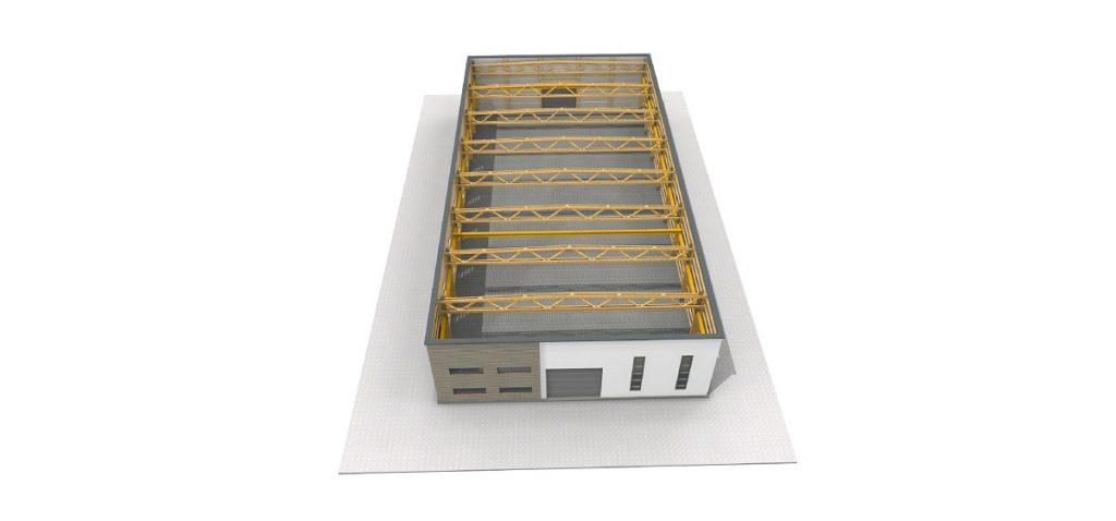 Projekt-535 proizvodna industrijska skladiščna hala z upravnim prostorom ali brez