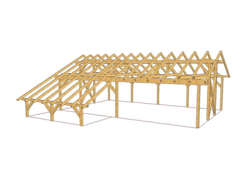 Delavnica in skladišče iz lesa